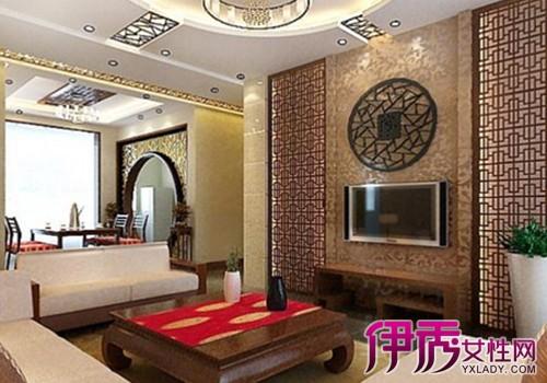 【图】中式古典电视背景墙装修效果