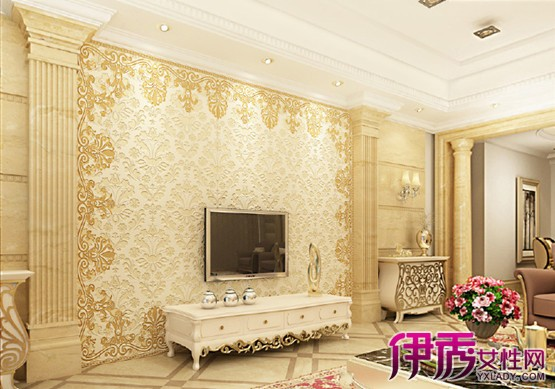 【图】欧式瓷砖电视背景墙