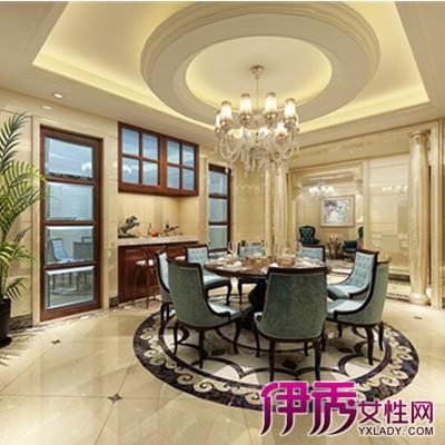 客厅半圆石膏线吊顶效果图展示