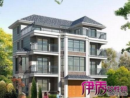 农村三层房屋效果图:经典两层别墅外观设计效果图方