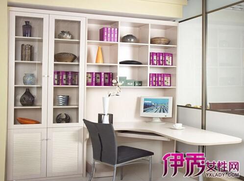 书房转角书桌书柜分享展示