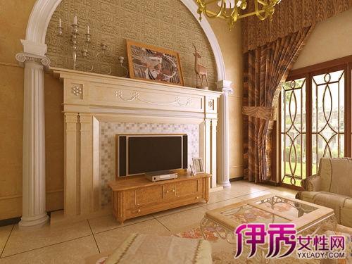 【欧式罗马柱电视墙】【图】欧式罗马柱电视墙效果