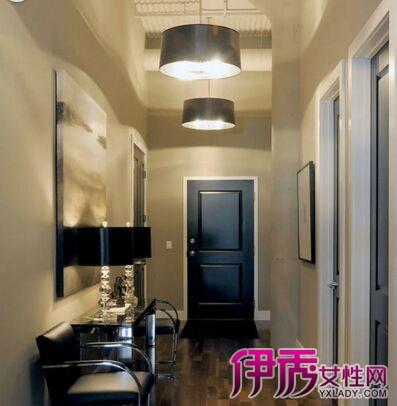 分享几款客厅入户门玄关走廊吊顶装修效果图片,个性时尚的客厅玄关