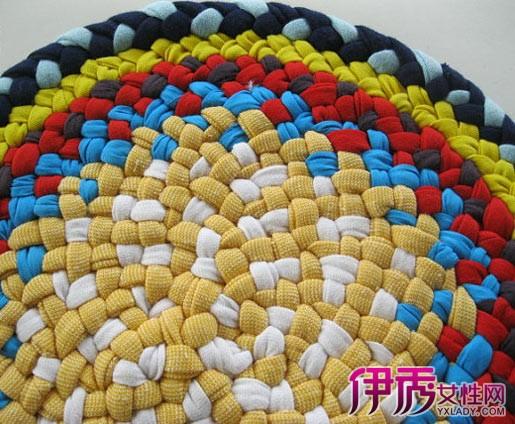 毛线手工编织地垫图解(卡通地垫大全)|钩针花样图解