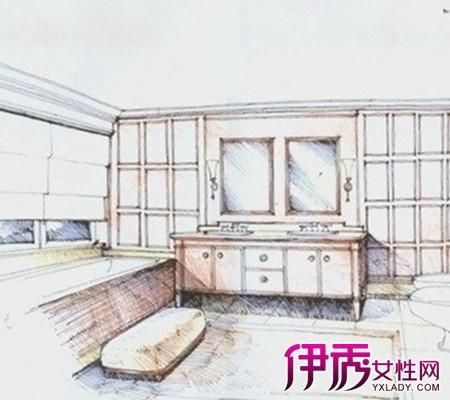 在室内设计手绘效果图中,选用马克笔常与彩铅配合.