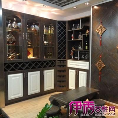 欧式餐厅酒柜冰箱
