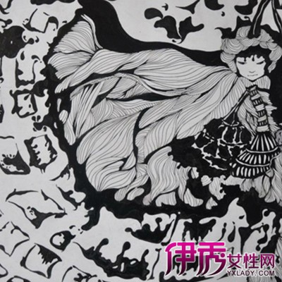 民族人物黑白装饰画展示 装饰画七种分类须知图片