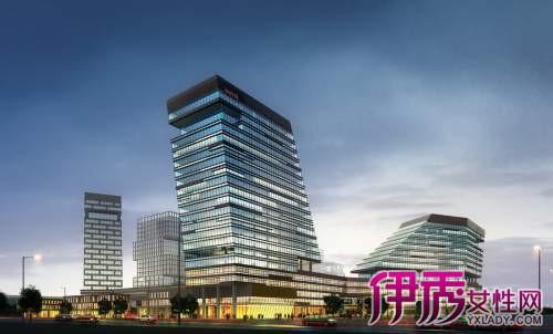 高层办公楼效果图 4,平面布局图:细分一层平面图,二层平面图,三层