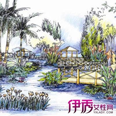 【简单园林景观手绘图】【图】精美的简单园林景观