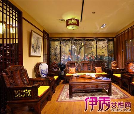 客厅装修红木沙发实景图大全