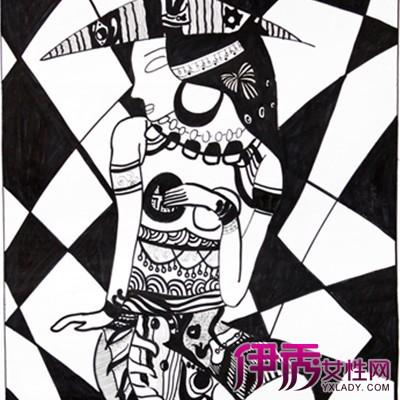 黑白线描创意装饰画欣赏 教你基础线描的方法图片