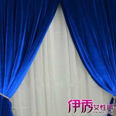 【蓝色窗帘】【图】欣赏蓝色窗帘装修效果图