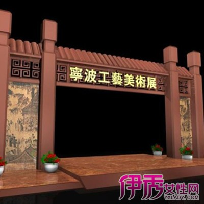 【图】中式门头设计效果图欣赏