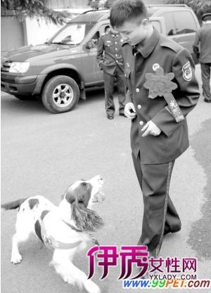 农村 搜救犬 多图 告别 人犬情未了/他,一名来自农村的90后小伙。