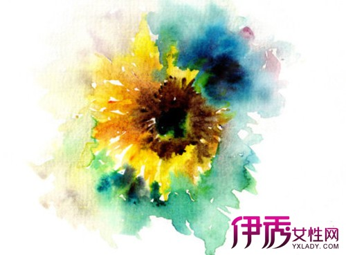 水彩画向日葵