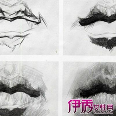素描嘴巴的画法图片