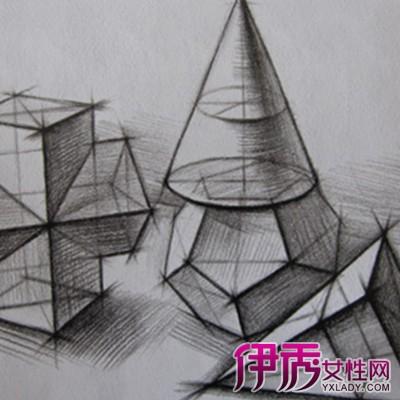 【图】鉴赏几何素描临摹范画 详细的作画步骤让立体感更强-几何素描图片