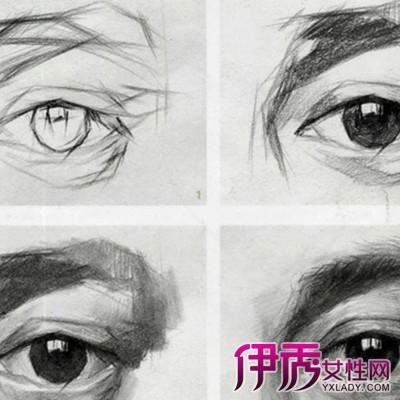 素描欧式眼影画法图片