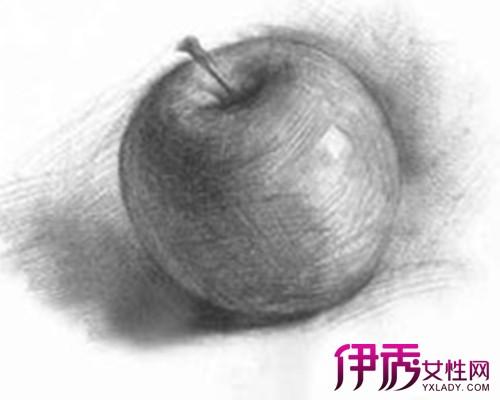 素描苹果的画法图片