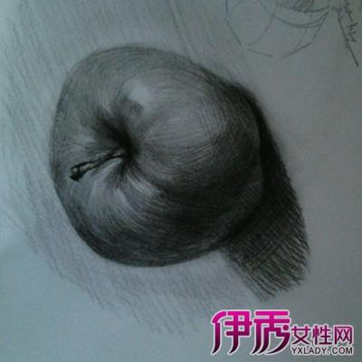 素描苹果步骤的画法图片