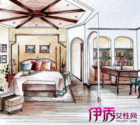 【图】欧式室内手绘效果图欣赏 现代客厅装修必看