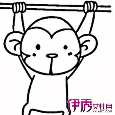 【图】萌萌哒幼儿卡通猴子图片简笔画