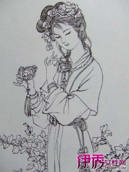 【图】古代美女素描铅笔画 塑造古典之美-古代美女素描