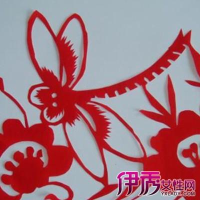 蜻蜓剪纸图案画法