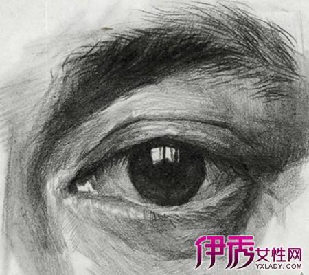 【图】眼睛素描的基本画法 素描眼睛结构解析及写生图文步骤-眼睛素图片