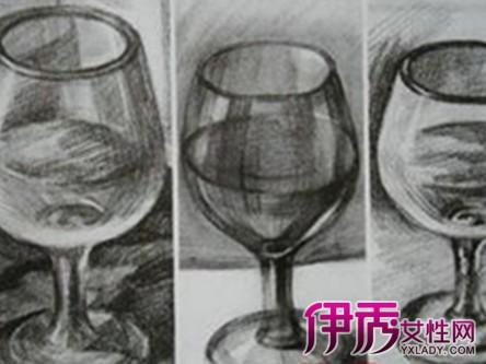 【图】高脚杯素描图片欣赏 素描的技法及作画步骤