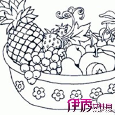【图】欣赏一盘水果简笔画的图片 吃水果对身体非常好