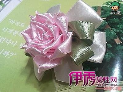 丝带玫瑰花制作图解 丝带花 丝带花制作图解图片