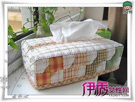 拼布纸巾盒手工布艺制作教程
