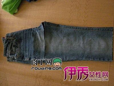 旧物改造diy牛仔裤改造流行马甲上次做小裤子剩下的