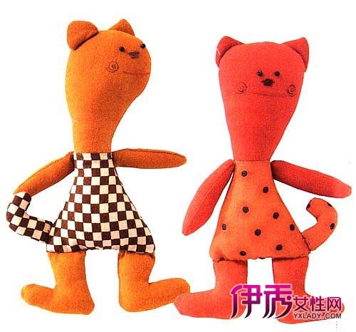 手工布艺玩偶制作教程-可爱的小怪猫