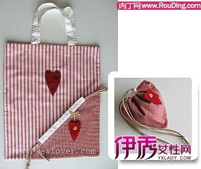 购物袋制作教程-收口式购物袋手工制作