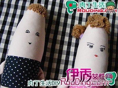 布娃娃手工制作-棒兄妹