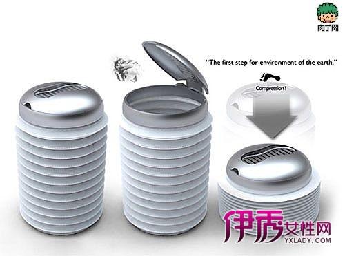 可以压缩减少垃圾提及的垃圾桶设计