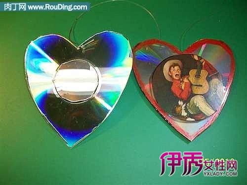 儿童光盘手工制作大全|光碟废物利用手工制作|废旧光盘手工大全图片