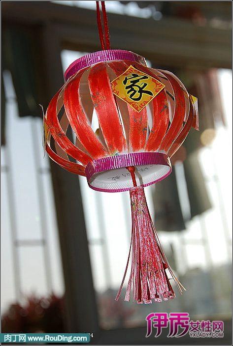 灯笼的做法,用纸杯制作的小灯笼-装扮新年的小礼物