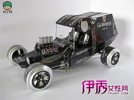 汽车模型p; 易拉罐汽车模型赏;; 看创意 用易拉罐做的.