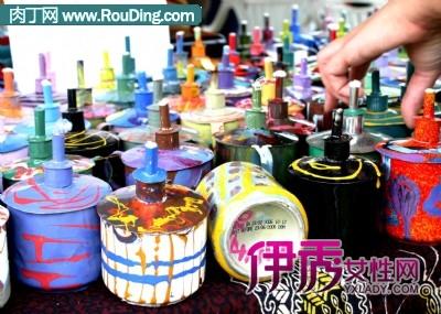 国外易拉罐手工制作作品-油灯