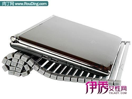 笔记本电脑的散热底座通常都采用了坚硬的框架结构