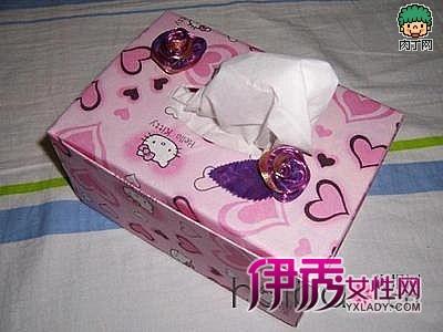 纸盒制作kitty纸巾盒