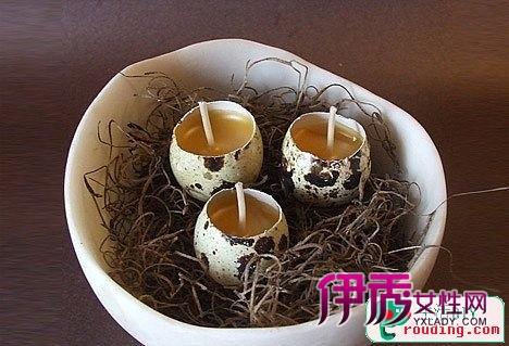蛋壳制作手工蜡烛,鸡蛋壳做蜡烛; 创意礼品 diy蛋壳蜡烛; 巧妙diy蜡烛