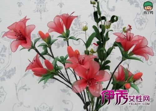 艳丽丝网花制作教程 手工丝袜花盆景DIY图解