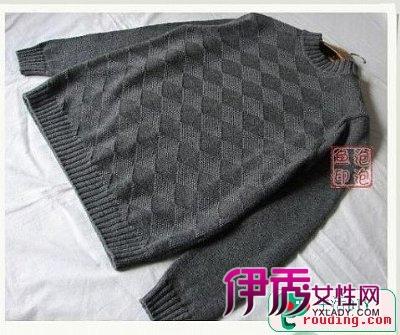 一款喜欢的男士毛衣手工编织方法