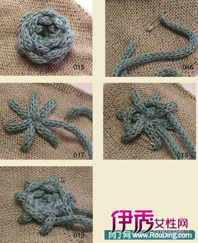 毛线编制玫瑰花,毛线编织牡丹花图解