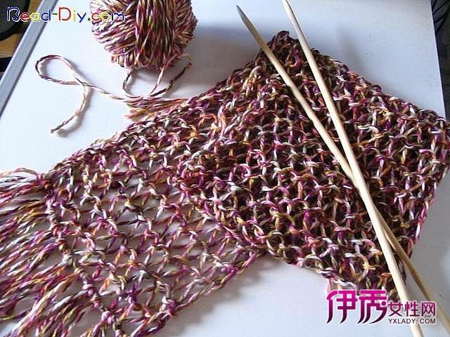 毛线围巾编织花样-洞洞围巾编织方法
