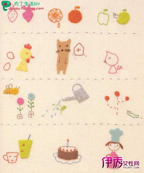 原文地址:可爱刺绣; 童趣卡通手工刺绣diy方法; 堆糖图片专辑